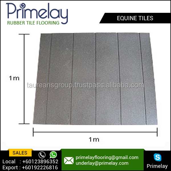 Equine Rubber Surface Flooring Tiles for Outdoor Walkways