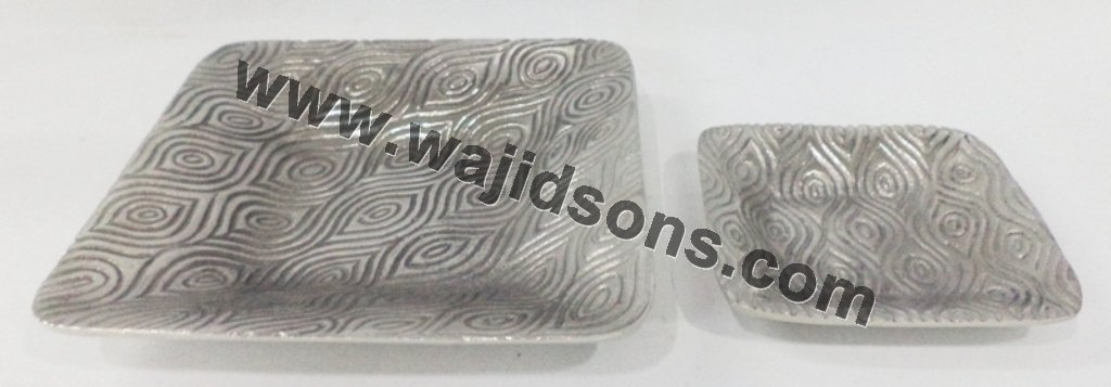 2015 hot sale aluminium centerpiece dishes and heart shape dish for serve food