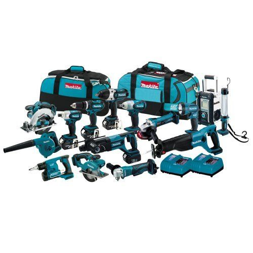 FOR NEW Makita LXT1500-230 18V LXT Li-Ion Cordless 15-Pc. Combo Kit