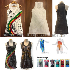 Pure concept Bangkok custom design wrinkle mini dress