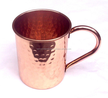 AMAZON 100% COPPER BPA FREE HAMMERED CYLINDER MUG FOR VODKA & MOSCOW MULE
