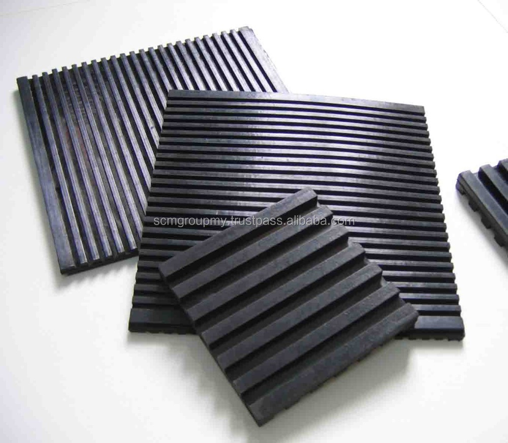 Noise Reduction Black Rubber Anti Vibration Absorb Pads