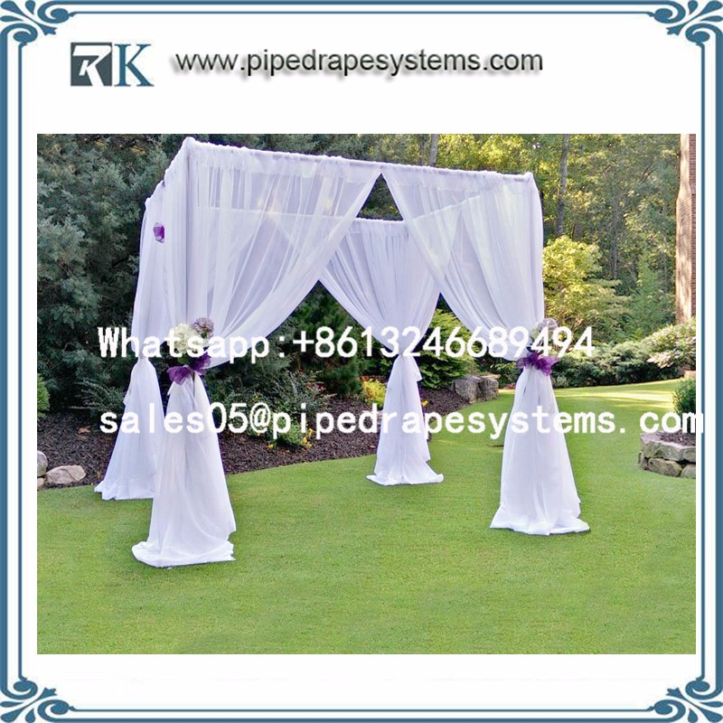 Aluminum trade show photo booth displays Portable cable pipe and drapes wedding tent wall back drop