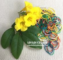 Fashion flat elastic rubber bands with good elasticity - Rainbow Hand Bracelet Mini Colored Elastic Fun Loom Rubber Band