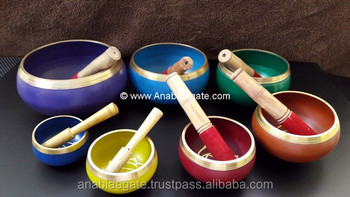 Singing Bowl Set Of Seven : Wholesale Chakra Singing Bowl : Tibetan Meditation Singing Bowl