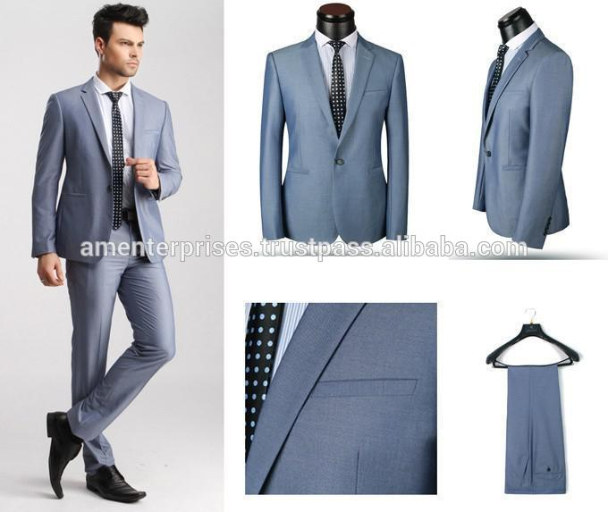 2016 fashion wedding suits for men, custom buisness suits, blue plaid suit