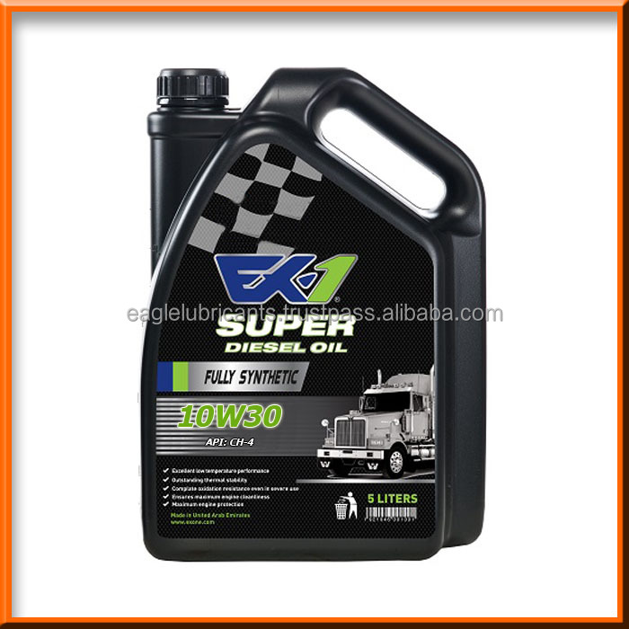 EX-1 Synthetic Diesel Engine Oil, SAE 10w30 CH-4 5L [Automotive Lubricants, Fully Synthetic High, Premium, Top Quality ]