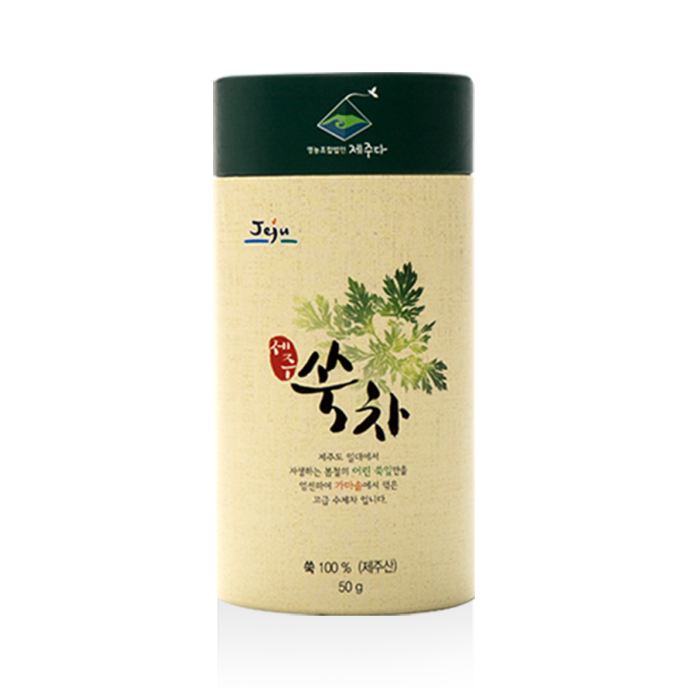 Mugwort Tea 'Sook' 50g Korean Tea Functional Stomach Liver Premium Handmade Healthy Super Food Effective Environment-friendly Be