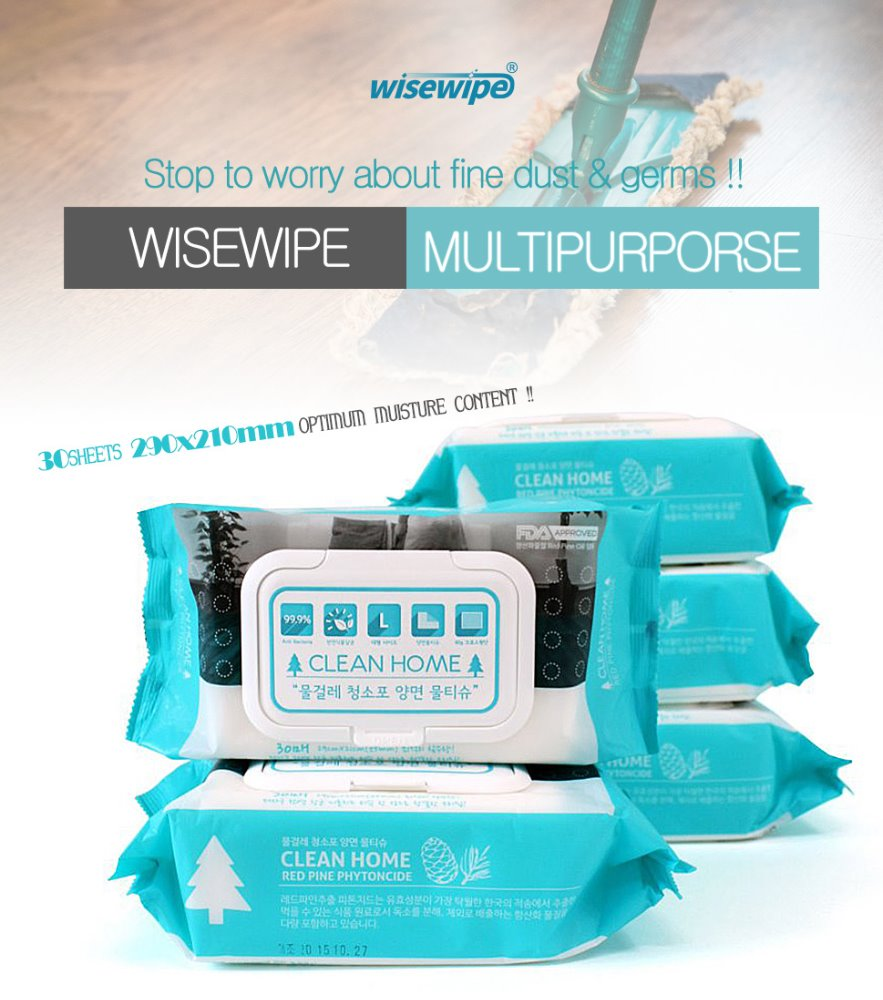 Cleanhome wet wiping cloths / wiping cloths / wet sweeping cloths / wisewipe