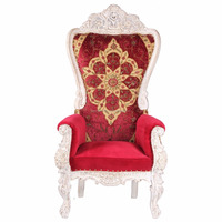 Indian Victorian Armchair Indian country Traditional Red colored upholstery