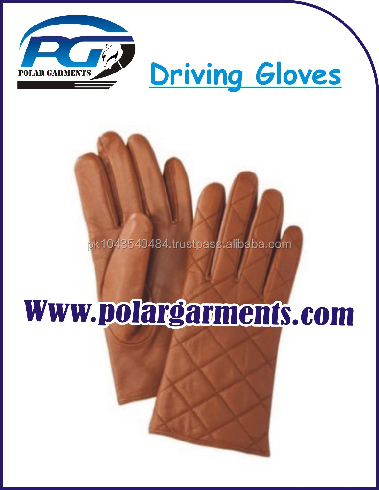 Brown Leather Bus Driving Gloves
