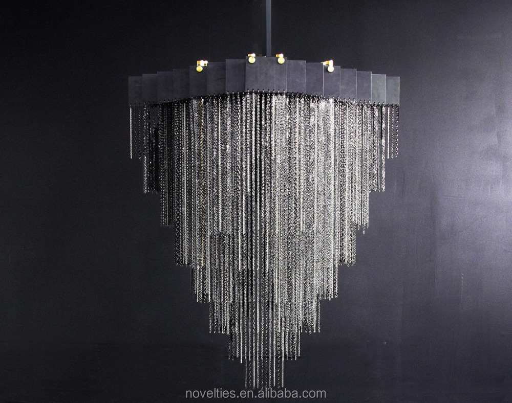 Water Pressure Chandelier Lighting for Restaurant Deco Various Black & Brass Chain Chandelier