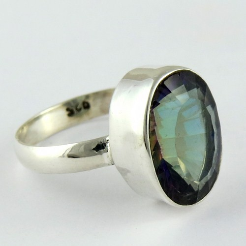 Tropical Magic Mystic Topaz 925 Sterling Silver Ring, Handmade Sterling Silver Jewellery, Beautiful Sterling Silver Jewellery