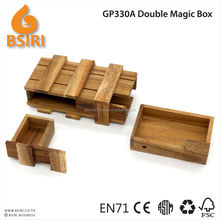 Double Magic Box wooden puzzle games