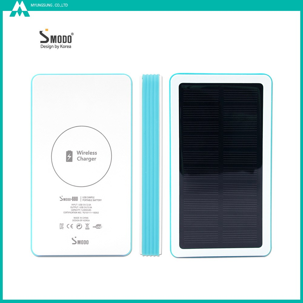 Wireless efficiency QiPack 5000mah polymer battery for cell phone