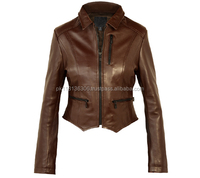 Ladies girls fashionable leather quilted jackets