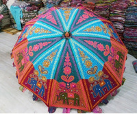 Buy Exclusive Traditional Patchwork Embroidered Resort Umbrella | Garden Cafe Umbrellas Online