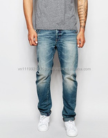 men's clothing wholesale knitted tall fancy denim jeans for men