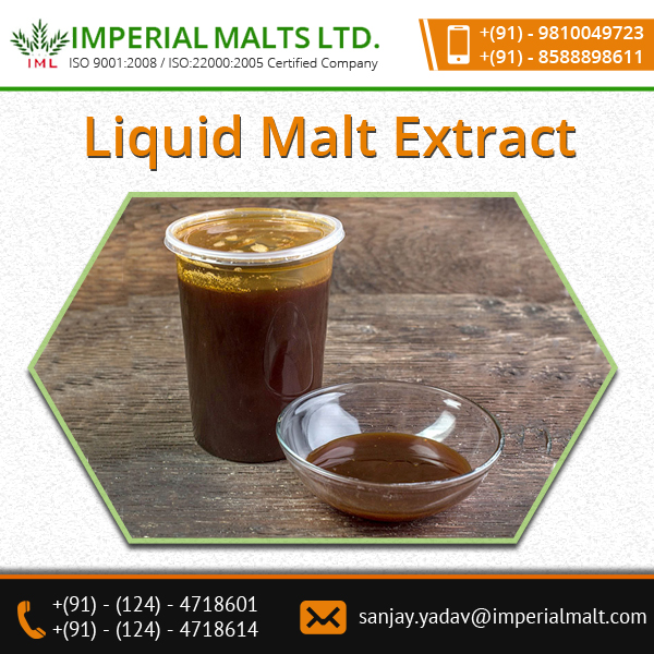 Liquid Malt Extract Finds Application In Manufacturing Of Health Drinks, Pharmaceutical , Biscuit & Confectionery Industries