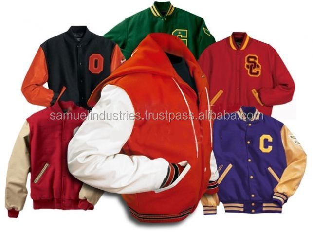 Diffferent colors & styles varsity jackets / custom Letterman jackets / custom baseball jackets real leather sleeves