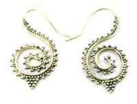 Crafty 12 Indian Brass Tribal Hook Earrings