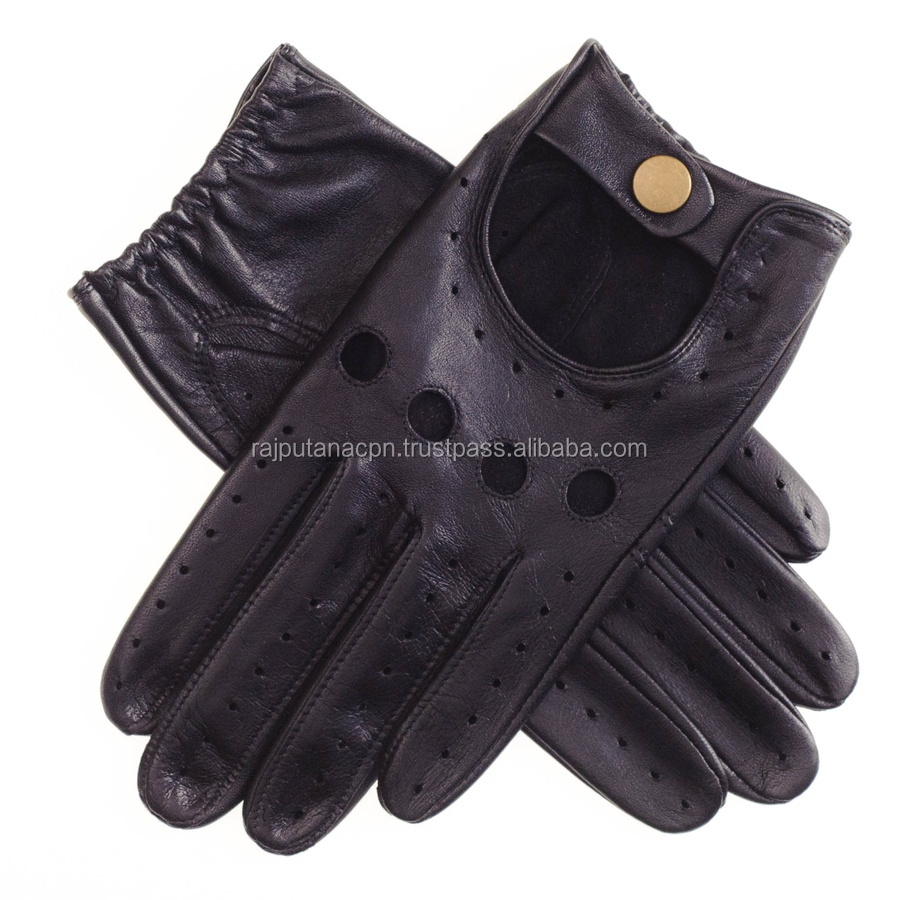 Good Look Driving Glove Black leather glove mittens