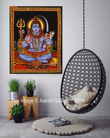 Indian Shiva Lord Wall Hanging Tapestry Art Poster Home Decor Throw Tapestry For Wall Decor God Tapestry