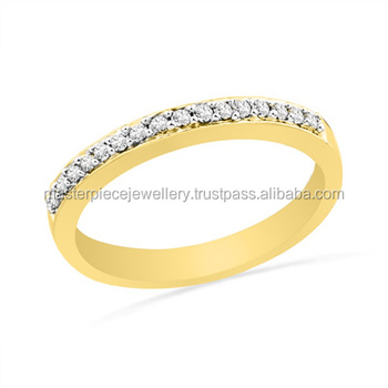 Natural 1/10 CT 10K yellow gold Diamond average size bezel engagement rings sizes conversion chart ring