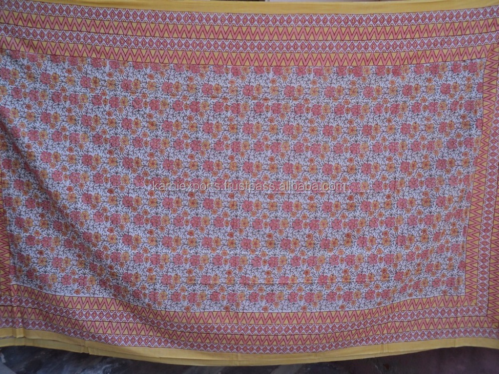 Quilts & blanket covers / 100% cotton hand-block printed indian duvet covers & quilts cover