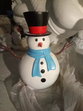 Fiberglass Christmas Snowman Sculpture for Home Decoration