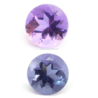 Natural Color Change Alexite Synthetic Autumn Color 8mm Round Cut 1.8 Cts Man Made Gemstone IG4383