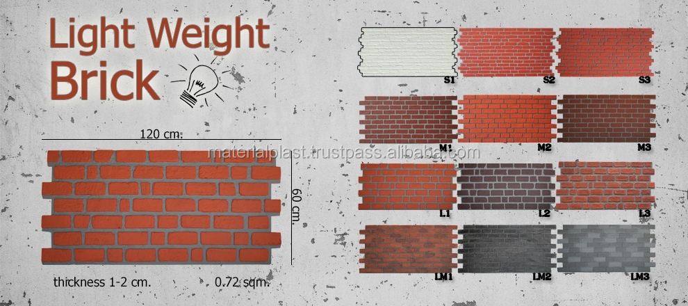 Thailand Best Quality Brick wall for decorative wall