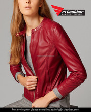 manufacturers women leather jacket european style leather goose down jacket winter jackets