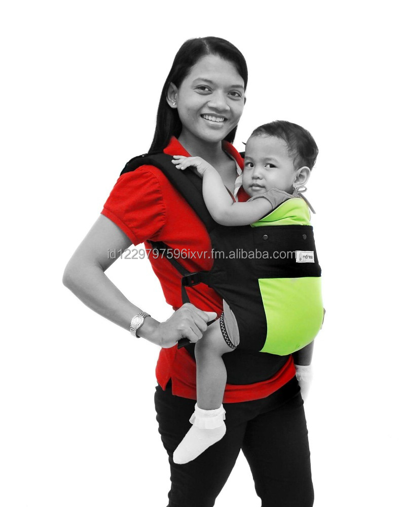 High Quality Padded and Comfortable Cotton Baby Carrier for up to 44 lbs