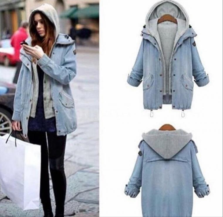 Fashionable Stylish Beautiful Women New Jackets Jeans