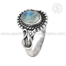 Gorgeous Rainbow Moonstone 925 Sterling Silver Jewelry Wholesale Ring Price Per Gram