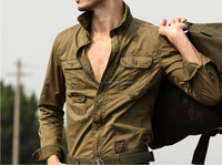 High-Quality-Men-s-Casual-Long-Sleeved-Cargo-font-b-Shirt-b-font-Plus-Size-Military