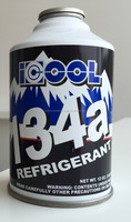 Pure R134a Refrigerant in alu disposable cans 340g 12oz.