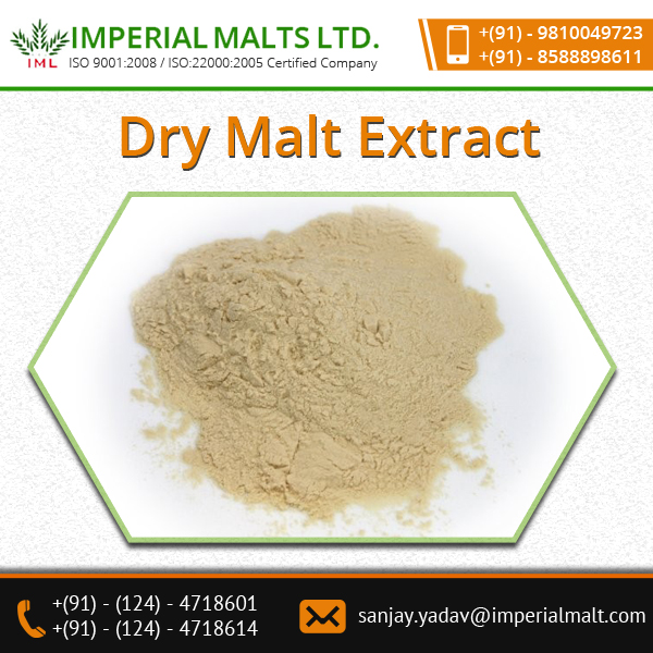 Dry Malt Extract Powder With Predominant Quality And High Nutritive Esteem