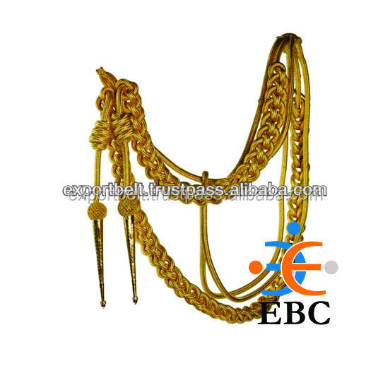 Aiguillette Gold Wire Army Shoulder Cord, AIGUILLETTES WIRE CORD RIGHT shoulder for army uniform
