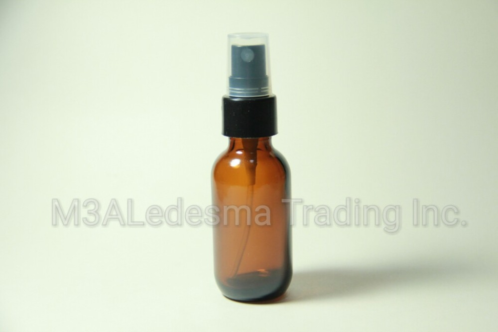30ml amber glass bottle with sprayer