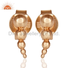 Dotted Honey Bee Designer Plain Silver Earrings Wholesale Rose Gold Plated Studs Earrings Manufacturers Fashion Jewelry