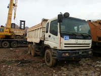 Manual control left hand driving Used isuzu truck /second hand dump truck