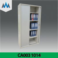 Two Tambour Door Office Lockable Metal Filing Cabinet/ Roller Shutter Door Cabinet / Tambour Door Cupboard