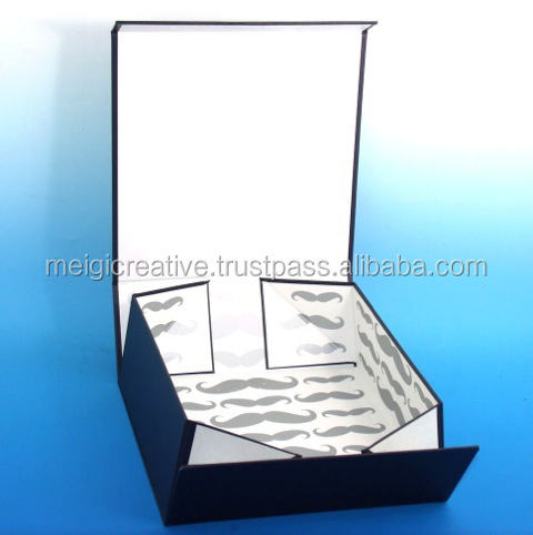 Foldable Rigid Set-up Box with Magnet Closure, collapsible carton box