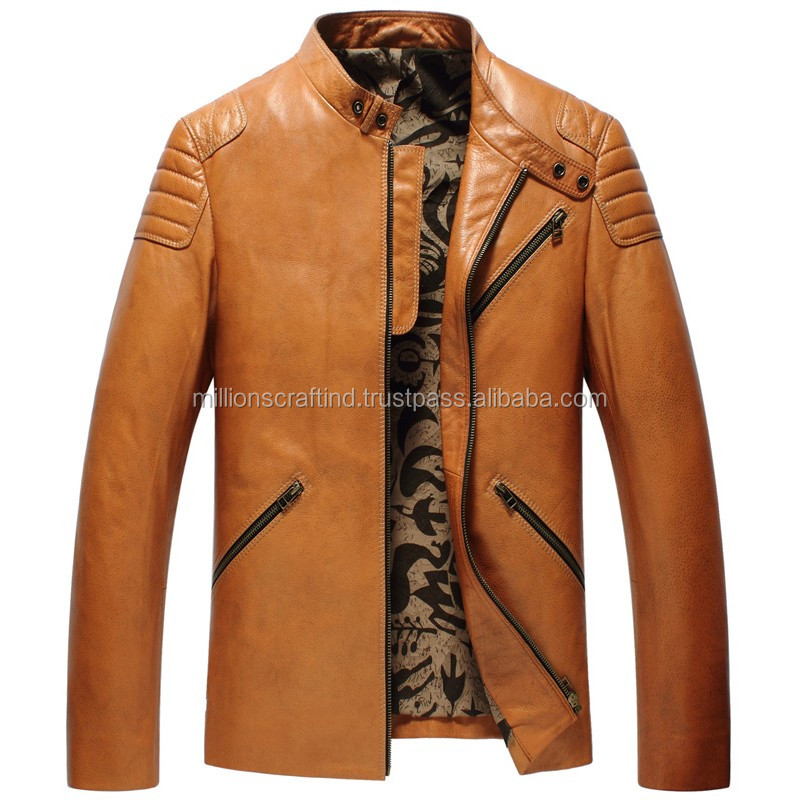 Fashion Genuine Sheepskin Leather Jacket made in Pakistan for men
