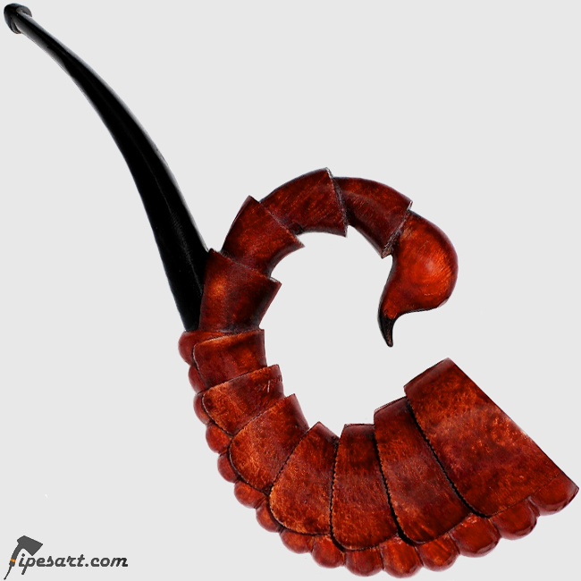 CHARMING WORK OF ART; SMOOTH SCORPION SMOKING PIPE KIT-TOBACCO PIPE SET WITH TAMPER AND BOX