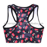 yoga sports bra pattern fashionable hot sex women's crop top
