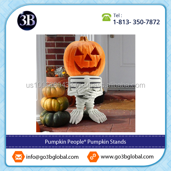 Resin Pumpkin Stand Skeleton Best Seller Halloween Decoration Available
