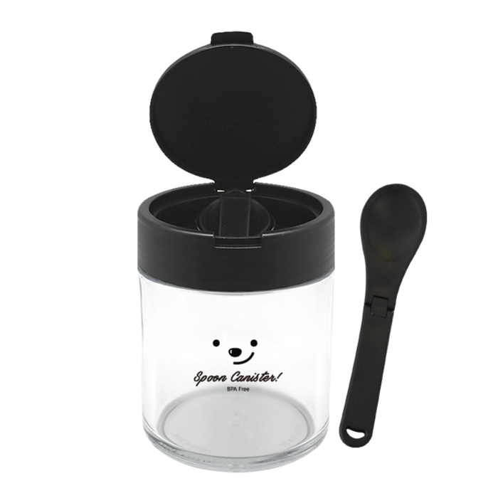 Spoon Canister Candy Pasta Coffee Beans Rice Saurce Storage Clear Cereal Canister